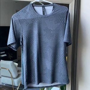Patterned Gray Men's Lululemon Shirt